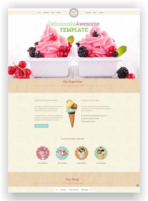Wordpress Theme Ice Cream