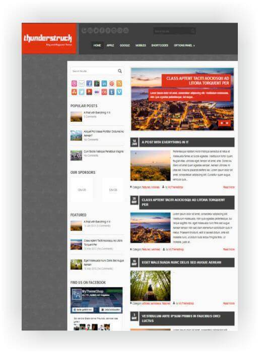 Tema WordPress para Blog è revista