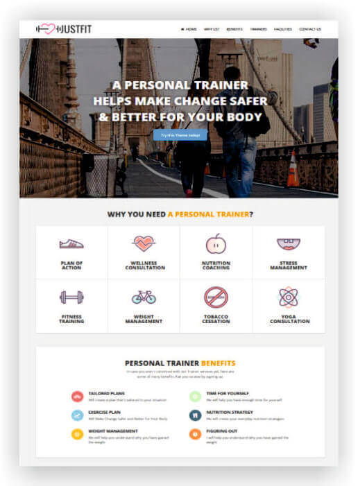 Website para personal trainer