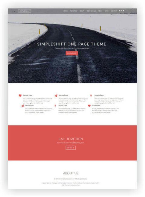 WordPress One Page Thema