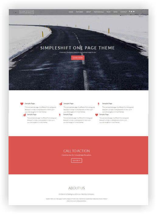 WordPress One Page Thema