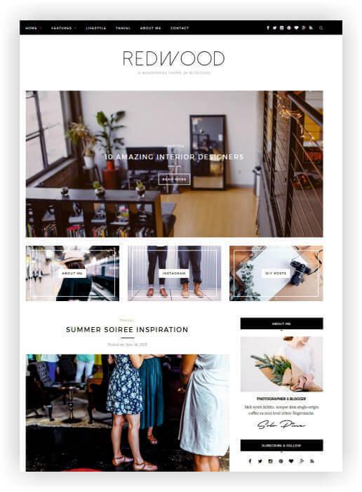 Clássico WordPress Blog Tema