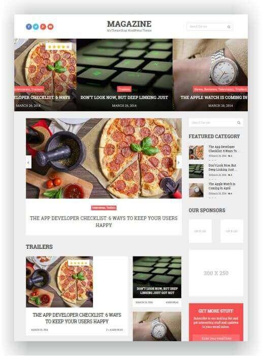 Einfaches WordPress Theme für eine Magazin