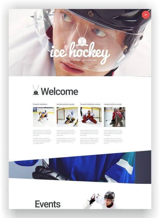 Webseite für Eishockeyblog