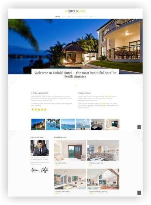 Hotel Webseite WordPress