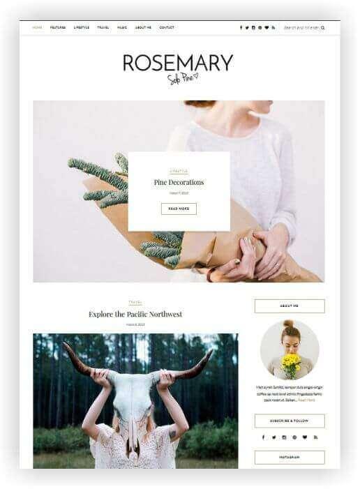 Blog Tema elegante