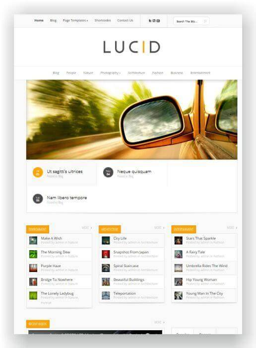 Lucid WordPress Blog Theme