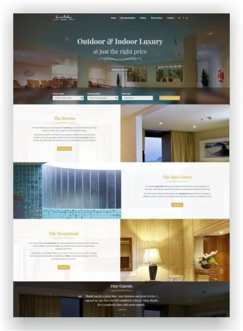 Bestes WordPress Hotel Thema