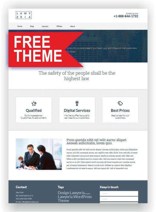 Wordpress Theme für Rechtsanwalt