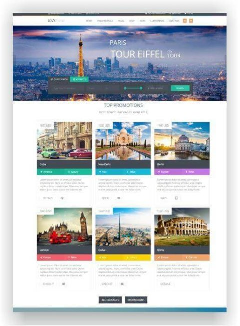 WordPress Theme for Travel