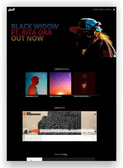 Website für DJ