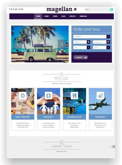 Wordpress Theme für Reisebüro