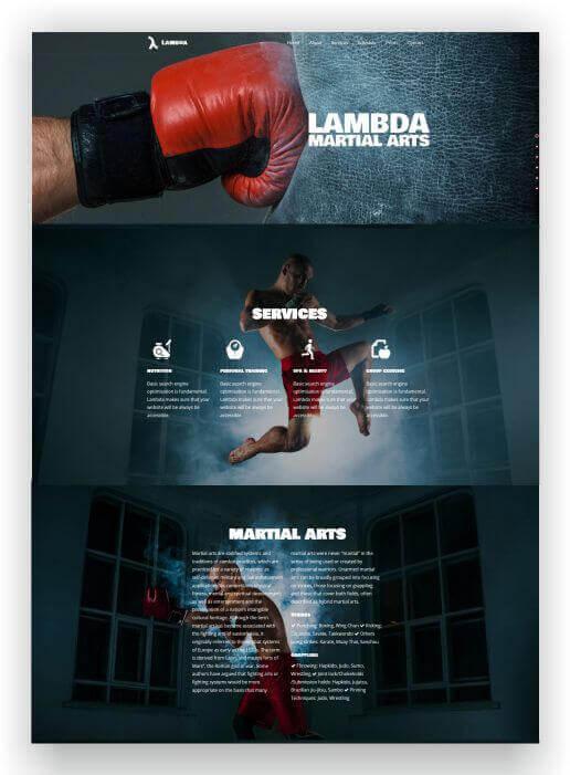 Wordpress Webseite für Kampfsport
