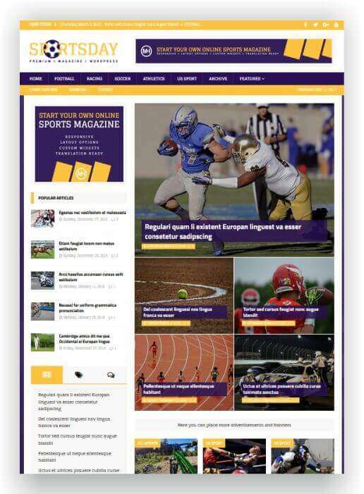 Sport Magazine Theme WordPress
