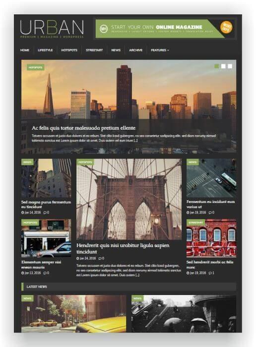 Wordpress Magazin Urban Style