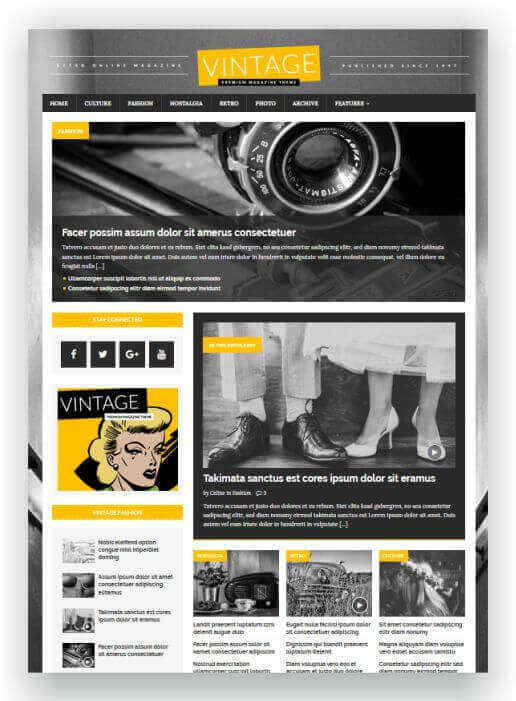 WordPress Magazine Retro