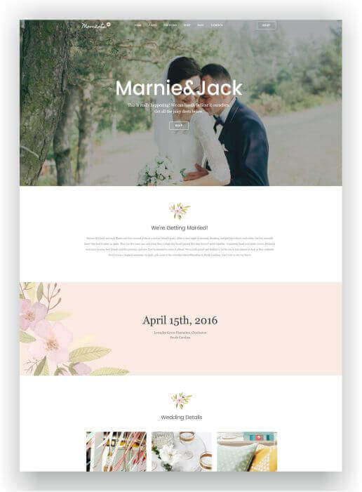Wordpress Theme Marriage
