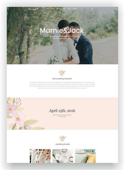 Wordpress Theme für Hochzeit