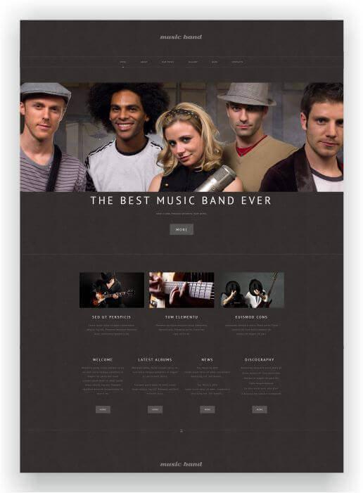 WordPress Theme Bands Music - DJ - Studio - Events -Download HERE!