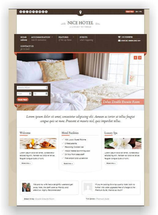 Wordpress Theme für Hotel