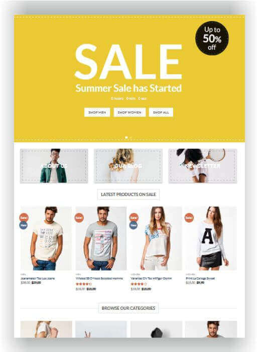 WordPress for Outlet Store