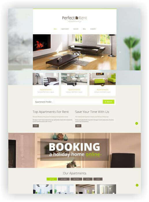 Immobilien Theme Perfect Rent by Templatemonster