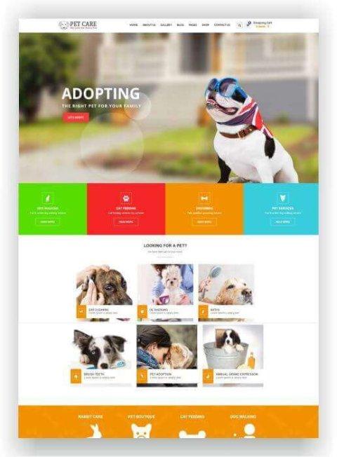 WordPress Thema für Tiere