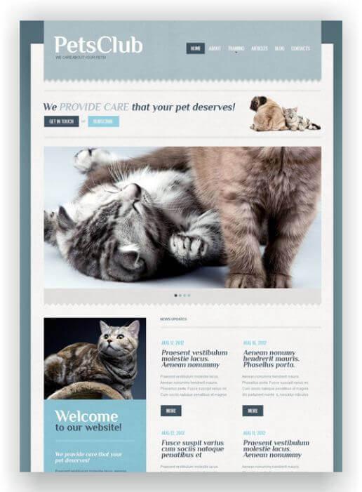 Webseite für Haustiere