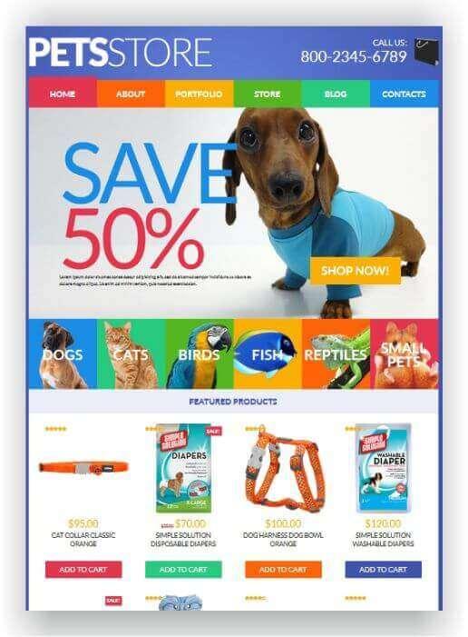 Webshop für Tiere