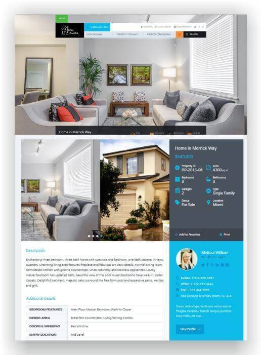 Wordpress THema für Immobilien