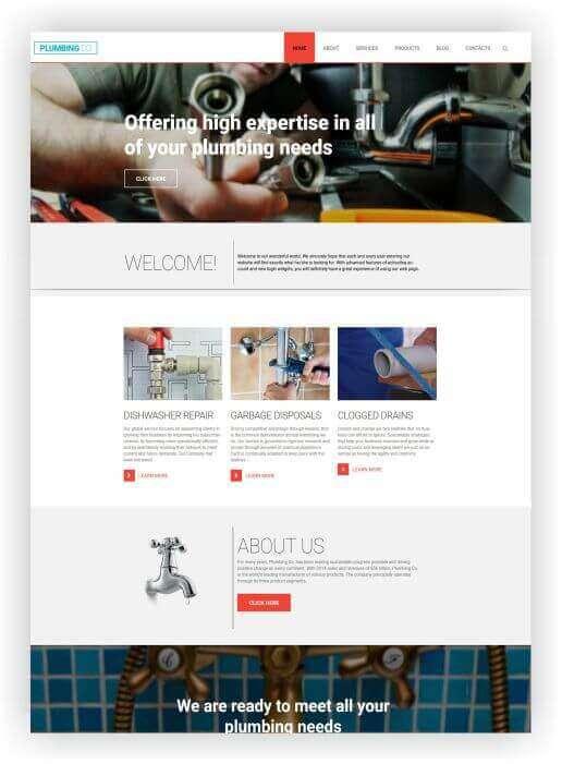 Wordpress Themes für Klempner