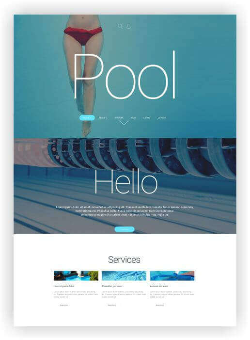 Wordpress Theme für Pooltechnik