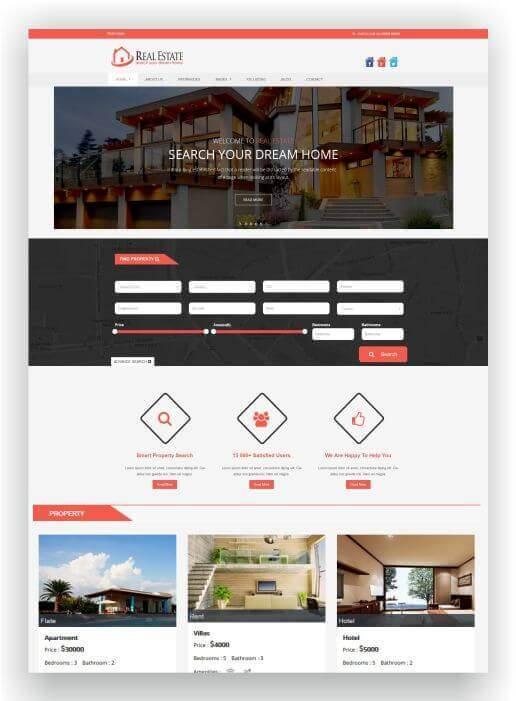 Wordpress Theme für Vermieter und Immobilienmakler