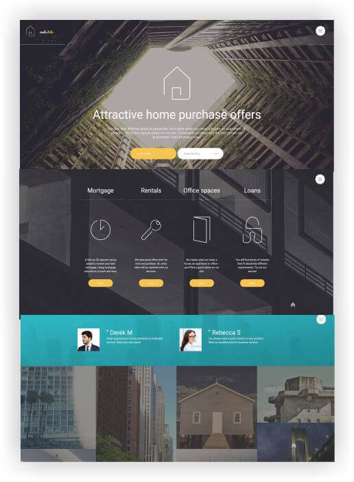 Immobilien Theme by Templatemonster