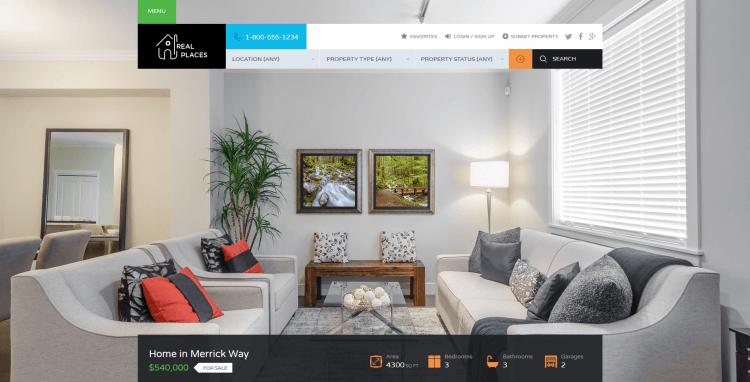 Tema de WordPress para Inmobiliaria - Real Places - descargar aquí!