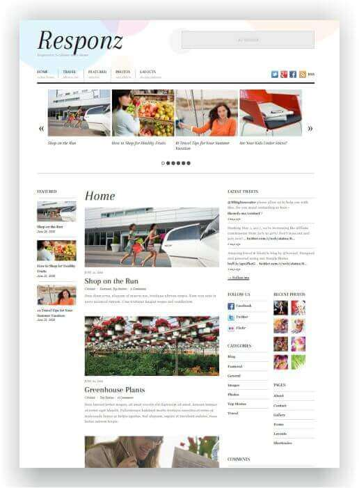 Simple WordPress Theme for Magazine
