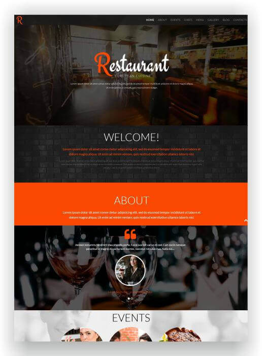 WordPress for Restaurant