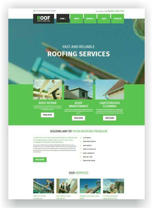 Wordpress Theme for roofer