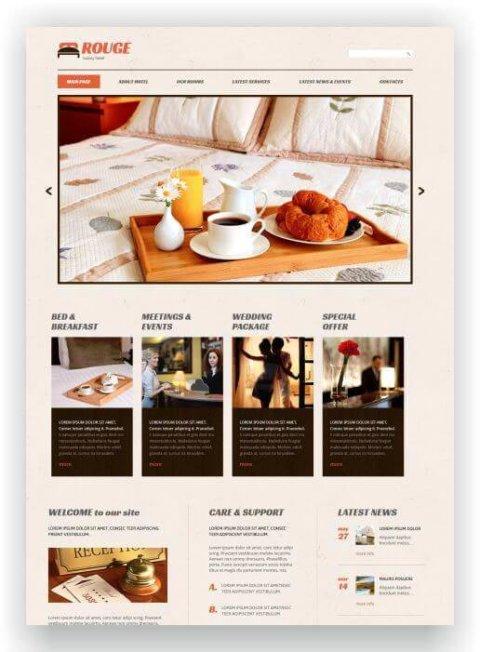 Einfache Hotel Webseite