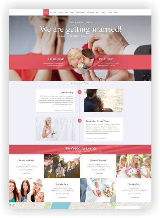 Wordpress Wedding planer