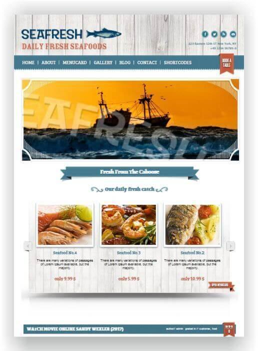 Wordpress Theme für Fischgeschäft