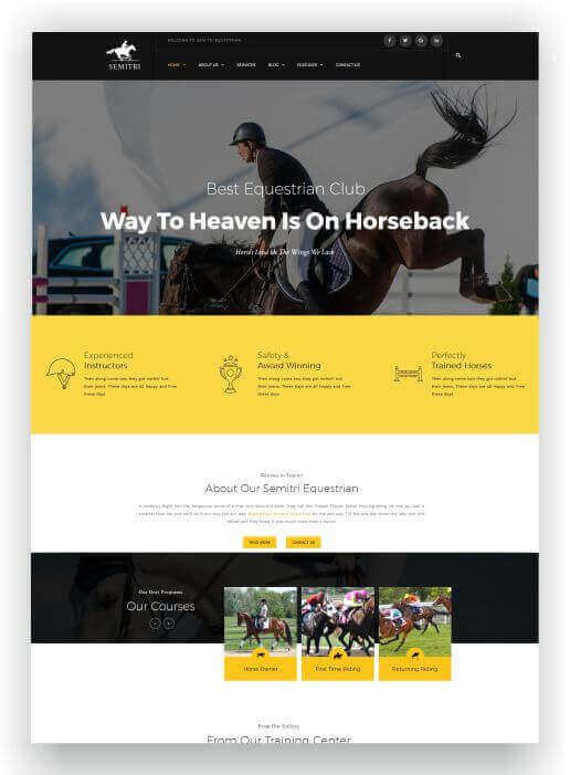 Webseite für Reitsport