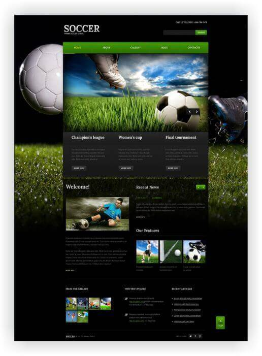 Wordpress Themes für Fussball Blog