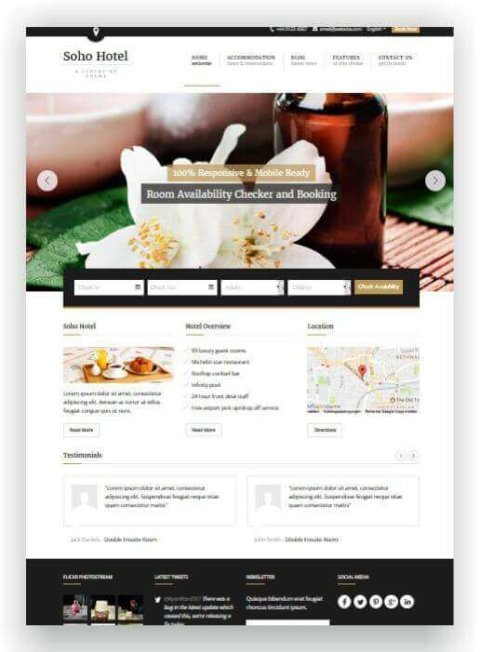 Hotel Website with WordPress