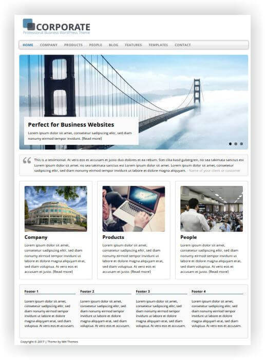 Wordpress Theme for business
