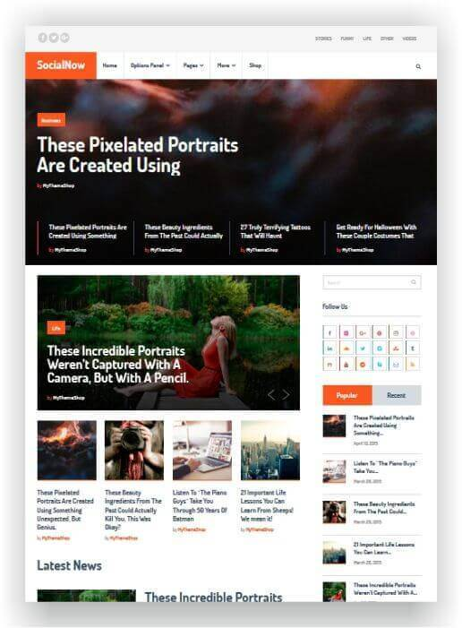 Modern Magazine Theme WordPress