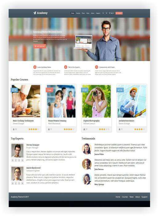 Wordpress Theme für Studium