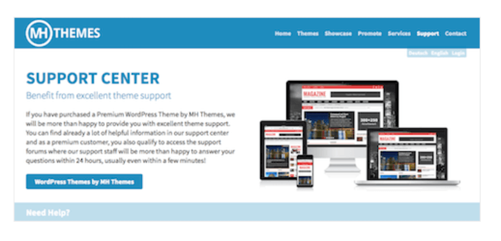 Support WordPress Magazin Theme