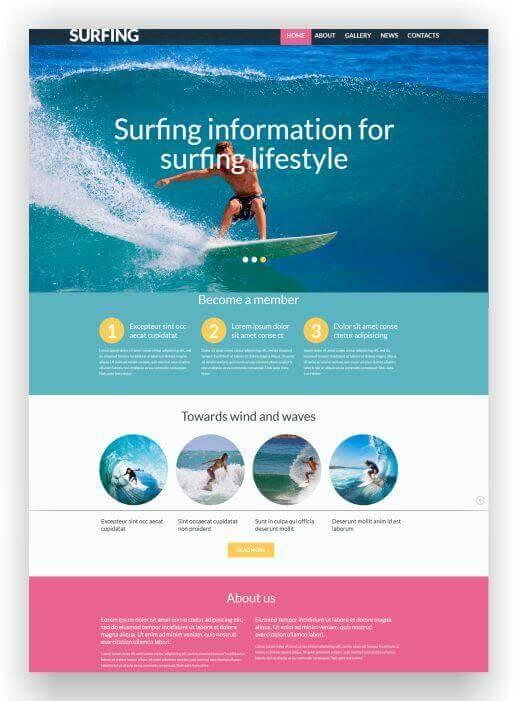 themes für sport-Webshops
