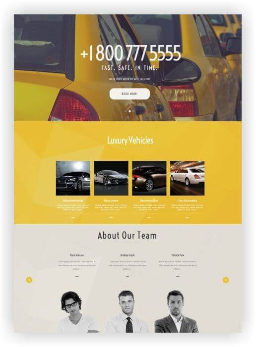 Wordpress Themes für Taxi